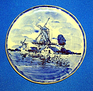 COLLECTOR'S PLATE DELFT BLAUW MADE IN HOLLAND.... (Image1)