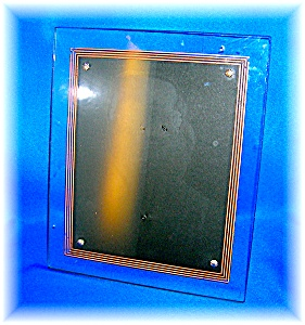 Glass Picture Frame Art Deco Look 50s