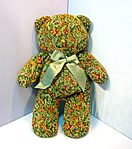 Hand Crafted Fabric 18 Inch Teddy Bear