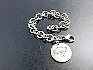 TIFFANY Sterling Silver  Link & Disc Bracelet  (Image1)
