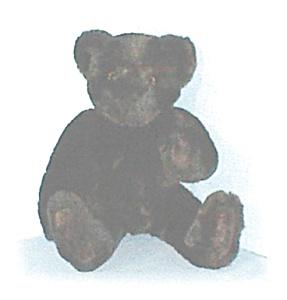 Dark Chocolate Brown VERMONT Teddy Bear (Image1)