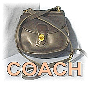 COACH Small Black Leather Shoulder Bag (Image1)