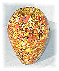 Murano Glass Vase Gold Red (Image1)