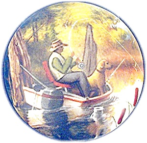 Ceramic  trinket Fisherman Signed Box (Image1)
