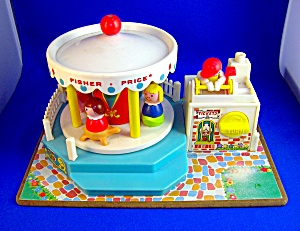 VINTAGE FISHER PRICE MERRY GO ROUND 1972 .  . . . (Image1)