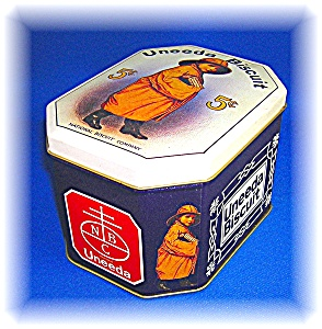 COLLECTABLE UNEEDA BISCUIT TIN - NATIONAL BISCUIT C0 . (Image1)