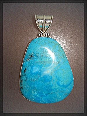 Pendant Turquoise Sterling Silver Large (Image1)
