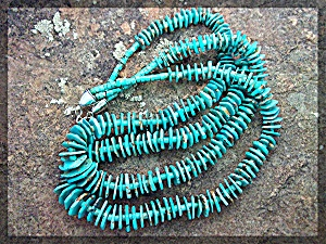 Necklace 2 Strandturquoise Lone Mountain Sterling Silve