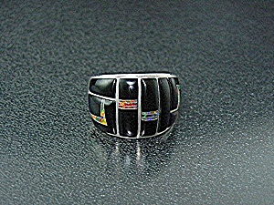 Opal Ring Sterling Silver Black Jade Red Opal Gl Studio