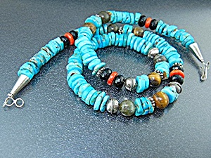 Navajo American Sterling Turquoise Coral