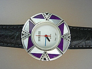 Watch Surrisi Sterling Silver Sugilite Mother Of Pearl