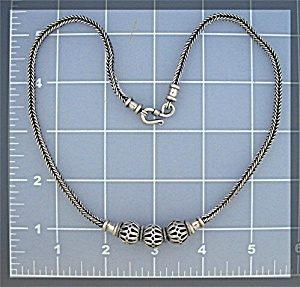 Necklace Silver Beds Hook Clasp Indonesia (Image1)