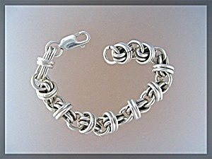 Sterling Silver Chunky Bracelet Lobster Clasp (Image1)