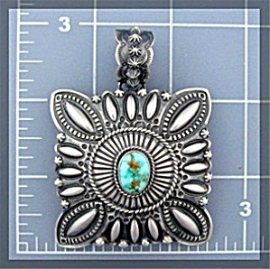 Native American Sterling Silver Turquoise Darryl Becent (Image1)