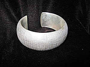 Bracelet Silver Wide Weave Cuff (Image1)