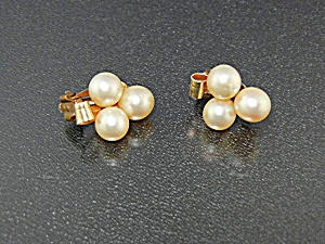Earrings Cultured Pearls 7mm 12K Gold Fill Clips (Image1)