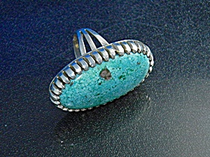 Navajo Sterling Silver And Turquoise Ring Antoinette Pl