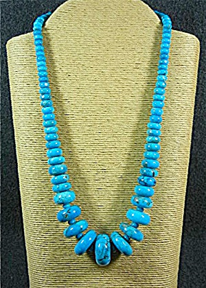 Navajo Turquoise Necklace Sterling Silver Pts 258 Grams