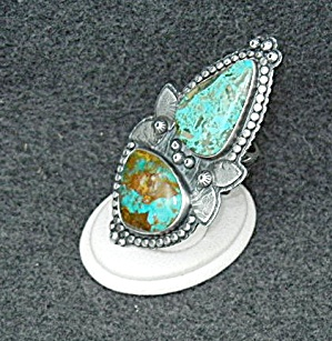 Kingman Turquoise Sterling Silver Ring Martha Petrilla