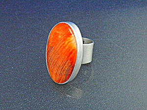 Navajo Spiny Oyster Sterling Silver Ring
