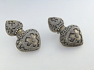 JOHN HARDY Sterling Silver French Clip Post Earrings  (Image1)