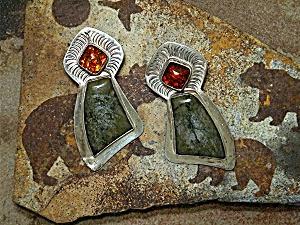 David Troutman  & Gundi Sterling Silver Agate Amber (Image1)