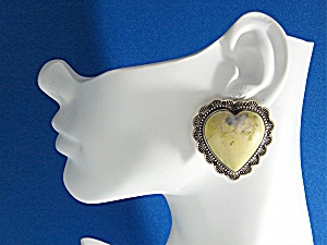 David Troutman Sterling Silver Variscite Hearts Earring (Image1)