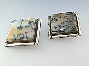 David Troutman & Gundi Sterling Silver Agate Earrings (Image1)