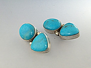 David Troutman & Gundi Sterling Silver Turquoise Earrin (Image1)