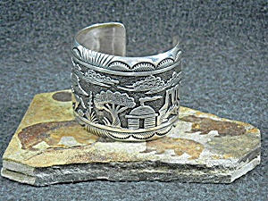 Native American Tommy Singer Sterling Silver Storytelle