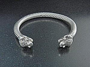 Sterling Silver 2  Frogs Cuff Bracelet (Image1)