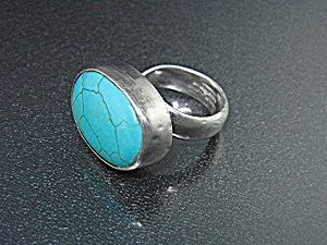 Charles Albert Sterling Silver and Turquoise Ring (Image1)