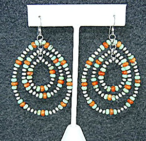 Navajo Gaspeite Spiny Oyster Sterling Silver Earrings