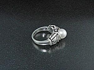 John Atencio Sterling Silver Cultured Pearl Ring (Image1)