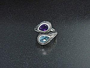 Sterling Silver Amethyst Blue Topaz FD Thailand (Image1)