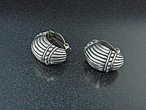 Sterling Silver Clip Earrings Vintage (Image1)