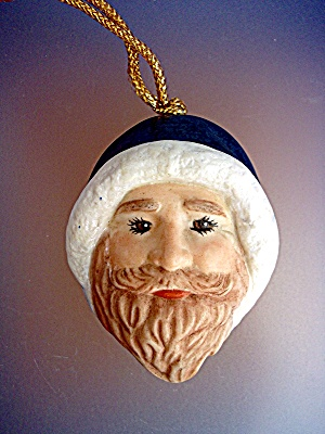 Santa Claus Christmas Ornament with blue cap (Image1)