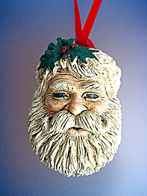 Santa Christmas Ornament AV 89 with holly (Image1)