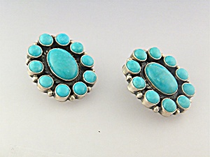 Native American Turquoise Sterling Silver KIRK SMITH Cl (Image1)