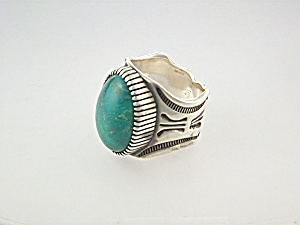 Ring Sterling Silver Turquoise JOE TENORIO (Image1)