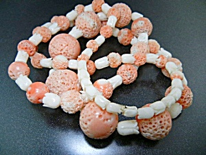 Angelskin Coral Mother Of Pearl Necklace 31 Inch