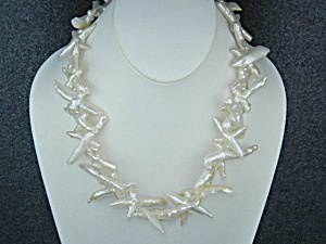Baroque Reborn Keshi Pearls Crystals Necklace
