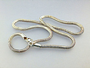 Necklace Sterling Silver Snake Chain 18 Inch