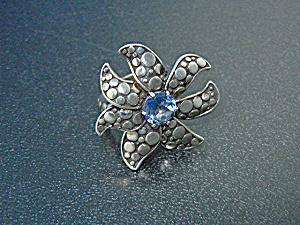 John Hardy Sterling Silver Blue Topaz Kali Ring (Image1)