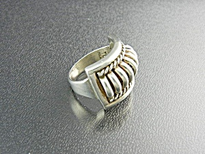 THOMAS CHARLIE Ring Native American Sterling Silver  (Image1)