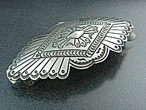 Navajo Sterling Silver Hair Barrette P. Yellowhorse (Image1)