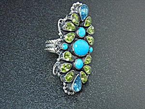 Leo Feeney Sleeping Beauty Turquoise Sterling Silver Ri (Image1)