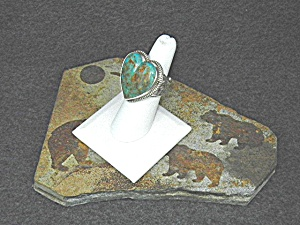 David Troutman Kingman Turquoise Sterling Silver Ring (Image1)
