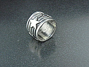 Navajo Sterling Silver Stars Ring Andy Cadman
