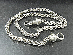 Wheat Chain Necklace Sterling Silver  ESPO SIG (Image1)